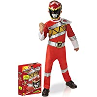 Disfraz Power Rangers rojo deluxe Dino Charge - Caja 7-8 años (122/128)