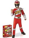 Rubies–i-620422M carga–Power Rangers–Dino traje decoración, rojo, tamaño M
