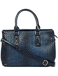 Kion Style Cross Design Women's Blue Handbag
