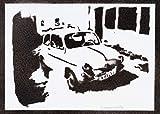 Póster SEAT 600 Automóvil Clásico Grafiti Hecho A Mano - Handmade Street Art - Artwork