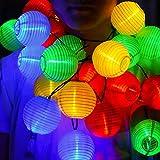 Kaiercat Solar Lichterketten, Laternen Lichterketten Outdoor Solarleuchten, wasserdichte Gartenlaterne für Party, Hochzeiten, Weihnachten, Garten, Balkon, Dekoration (20pcs-16.4ft) (Mehrfarbig)
