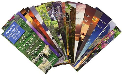 Karten mit den schönsten Bibelversen (in englischer Sprache), verschiedene, 50Stück