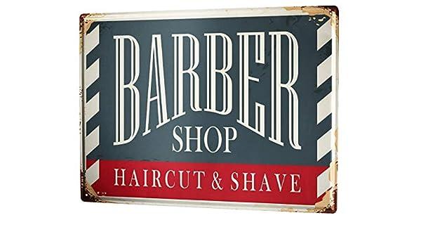 Cartelli Bagno Da Stampare : Cartello targa in metallo xxl retro negozio di barbiere: amazon.it