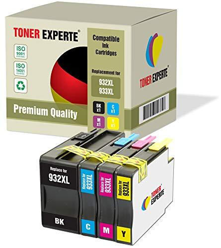 Druckerpatronen kompatibel für HP 932 XL 933 XL 932XL 933XL Officejet 6600 6700 7110 7610 7612 7620 6100 7510 7600 (Schwarz, Cyan, Magenta, Gelb) ()