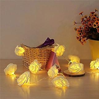 Amison 20 LED Rose Flower Fairy Wedding Christmas Decor String Lights