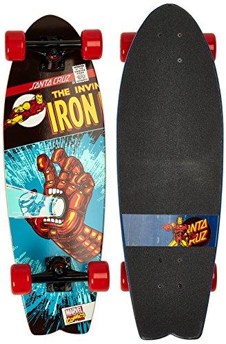 Santa Cruz Longboard Marvel Iron Man Hand Shark, 8.8 x 27.7 zoll, SANLOBMAIRMAHA