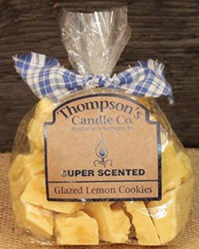 Thompson's Candle Co. glasiert Zitrone, Cookies–Thompson 's Kerze Co. Wachs schmilzt/Crumble 6oz in Geschenk Tüte Super Duft (Torten Duftkerze)