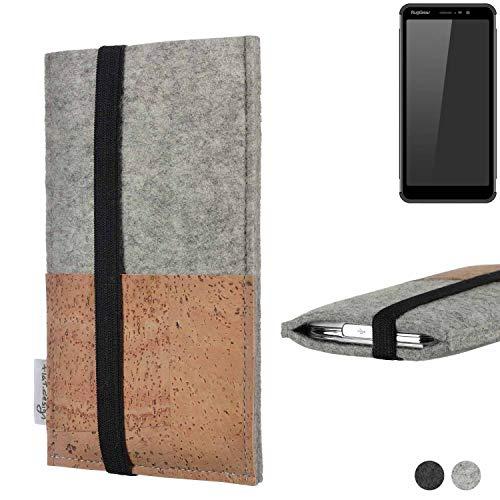 flat.design Handy Hülle Sintra für Ruggear RG850 Handytasche Filz Tasche Schutz Kartenfach Case Kork