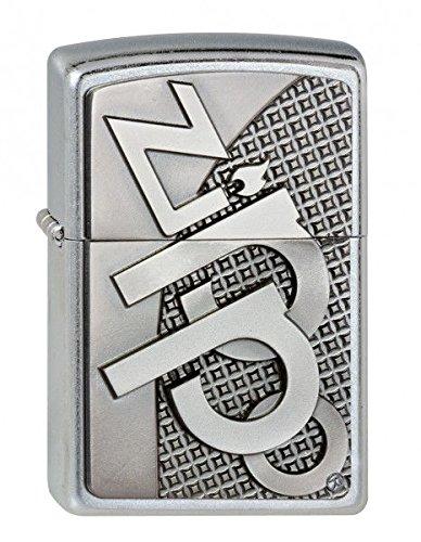 Zippo Feuerzeug 2003252 3D Emblem Benzinfeuerzeug, Messing