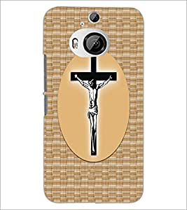 PrintDhaba Cross D-6068 Back Case Cover for HTC ONE M9 PLUS (Multi-Coloured)
