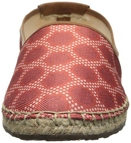 Sebago Women's Darien Slip-On Oxford, Red Canvas Print, 10 M US Red Canvas Print