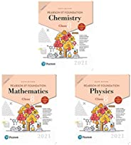 Pearson IIT Foundation Physics Class 8 by Pearson ,Pearson IIT Foundation mathematics Class 8 by Pearson and P