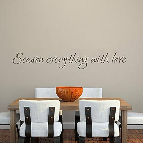 Stagione tutto con amore–Cucina Sala da pranzo da parete in vinile Art D ¨ ¦ cor, Customized-colors, 9