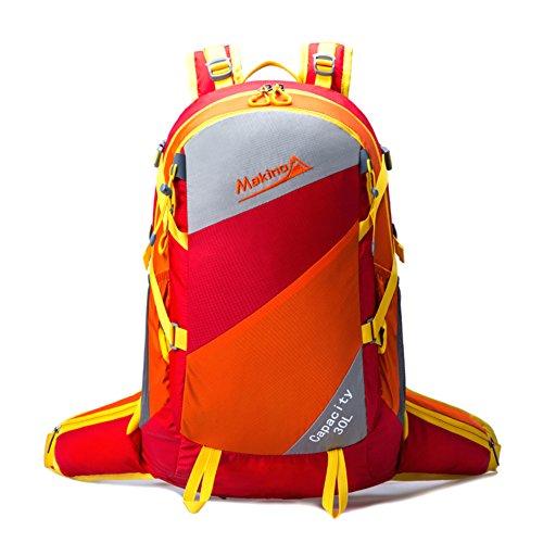 Bergsteigen Tasche/Männer und Frauen Rucksack/Außenreit Rucksack-braun 30L rot