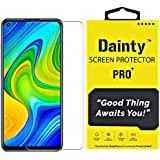 Dainty Tempered Glass Screen Guard for Mi Redmi Note 9 (Transparent) Full Screen Coverage (Except Edges) with Easy…