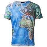 Dragon868 Herren T-Shirt Kurzarmshirt Top 3D Print Shirt Casual Basic O-Neck (Mehrfarbig, XL) Bild