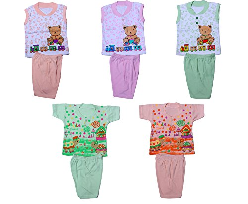 IndiStar Baby Boy's Cotton Clothing Set(Pack of 5)_Assorted Color/Print_Size-6-12 Months_10000-6566676869-IW-B-P5-M