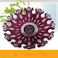 Yingsssq Cristal de Cristal Creativo Frutero Plato de Fruta de Colores Sala  de Estar Moderna Ensalada 868ec7dfcc9d