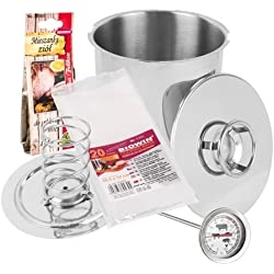 313130 Ham Pressure Cooker 3 kg / Press / Thermometer Set by MultiDepot