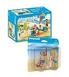 PLAYMOBIL Family Fun - Set: 9426 Fahrrad mit Eiswagen + 9449 Duo-Pack Strandurlauber