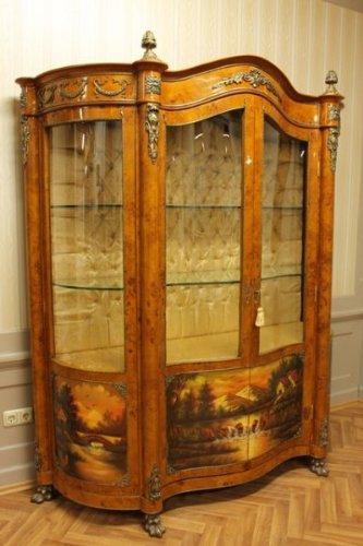 LouisXV Barock Vitrine Rokoko Antik Stil Schrank Louis XV MoVi1100AlPa Antik Stil Massivholz....