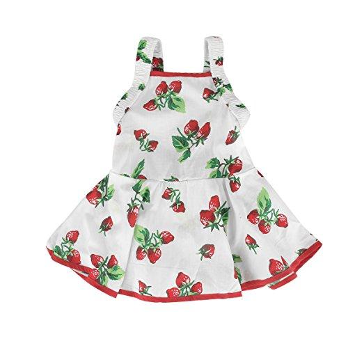 puseky Baby Mädchen (0-24 Monate) Erdbeere Plissee Kleid Spieler Gr.0-6 Monate