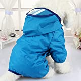 Zhi JinHunde-Regenjacke, wasserdicht, mit Kapuze, Overall, Hundemantel, Regenmantel, für kleine und mittelgroße Hunde, 1 Stück