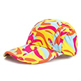 Yellow Camo Hats,Camouflage Caps Breathable Running Quick Dry Folding Brim Sports Hat Under 10 UV Sun Protection Visor Adult Outdoor Fishing Golf Baseball hiking Cap for Men Women