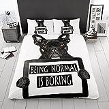 Gaveno Cavalia Premium colección 3d Bull perro juego de cama para cama doble (funda nórdica y funda de almohada de edredón, Multi