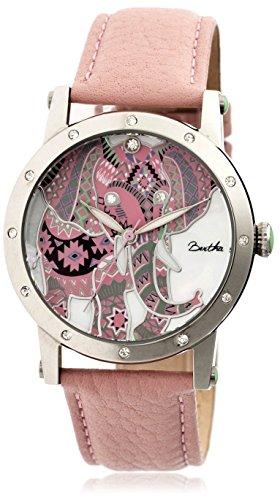 bertha-mesdames-montre-betsy-38mm-faade-en-acier-bracelet-en-cuir-rose-clair