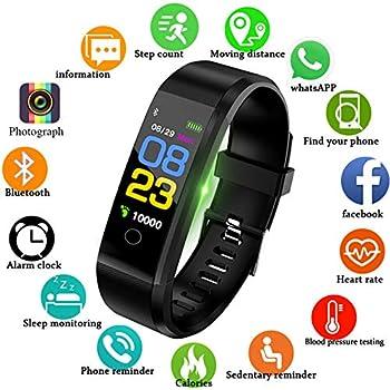 montre connectée, LIGE Fitness Trackers Bracelet Connecté Podometre Etanche IP67,Tracker activité Connecté GPS avec Cardiofréquencemètre pour Femme Homme ...