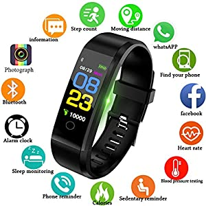 LIGE Fitness Tracker, Activity Tracker with Step Counter Watch and Sleep Monitor, IP67 Waterproof Fitness Wristband as Calorie Counter Pedometer Watch for Kids Women Men