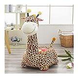 IIWOJ Baby Sofa, Lovely Simulation Giraffe Plush Baby Seat-Geschenke für Kinder,Brown