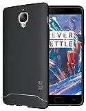 Tudia - Custodia protettiva ultra sottile e leggera completamente opaca, in gel TPU per assorbimento degli urti, per OnePlus 3 Black