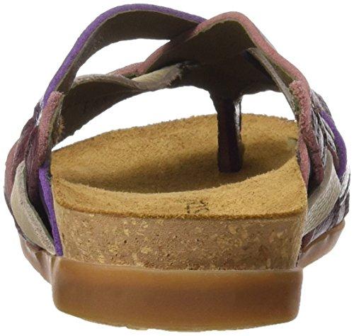 El Naturalista Nf48 Soft Grain Zumaia, Sandali T-Strap Donna Multicolore (Rioja Mixed)