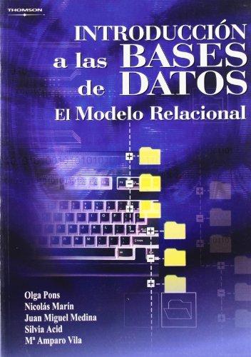 Introducción a las bases de datos. El modelo relacional