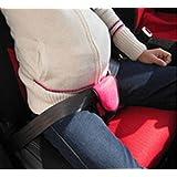 CITTATREND-Cinturón Embarazada para Asiento de Coche Ajustable Arneses de Seguridad a Cojín, Fucsia