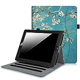 Fintie Hülle für iPad 2 / iPad 3 / iPad 4 - [Eckenschutz] Multi-Winkel Betrachtung Folio Stand Schutzhülle Cover Case mit Dokumentschlitze, Auto Schlaf/Wach Funktion, Mandelblüten