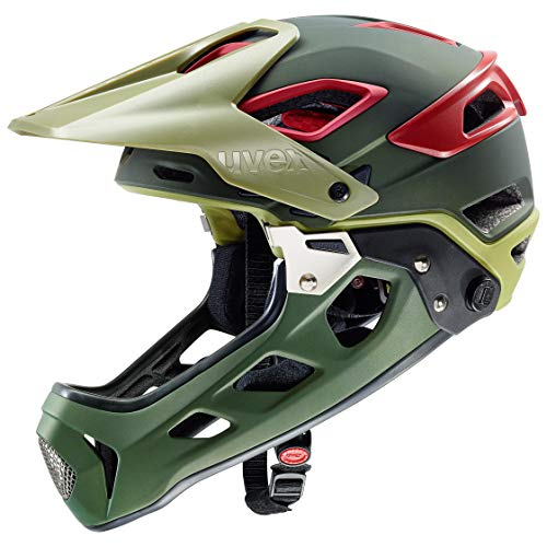 Uvex Unisex- Erwachsene jakkyl HDE Fahrradhelm, olivgrün, 56-61 cm