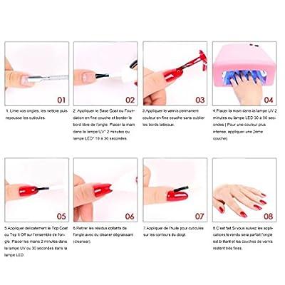 Vishine Choose Any 10 Colours Gel Nail Polish Soak Off Manicure Top Base Coat 10pcs x 8ML