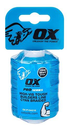 Buey ox-p104210Pro Trenzado de nailon resistente constructores línea, Azul, 105m/350m
