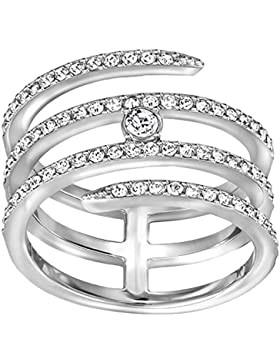 Swarovski Damen-Ring Creativity coiled rhodiniert Kristall transparent Gr. 55 (17.5) - 5197482