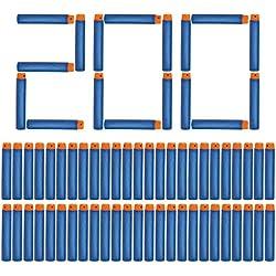 NextX 200pcs Mousse Fléchettes Recharge Balle de Nerf pr N-STRIKE ELITE Blasters Pistolet Jouet Darts Refill Bullet for Toy Gun(Bleu)