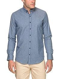 ae1264838ea6 SORBINO UOMO Men s Chambray Shirt Blue in Size X-Large