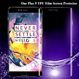 Full Cover Screen Guard Protector Soft 3D TPU Film High Quality 0.15mm Curved Edge Design For Oneplus5 One Plus 5