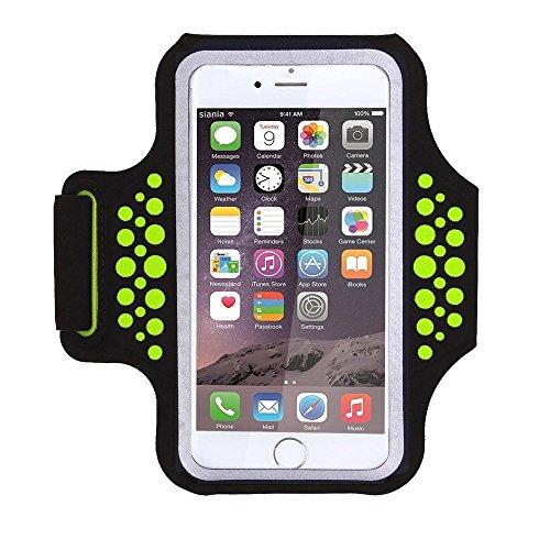 1617 EU Schweißfest Sportarmband Handy Laufen Sport Handytasche Handyhalterung Mit Schlüsselhalter/Kabelfach/Kartenhalter für iPhone XS/XR/X/8 Plus ,Galaxy S9/S8/S7 Plus Edge,Huawei P10 Mate Xiaomi -