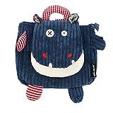 Les Déglingos  - Hippipos l'Hippopotame - Sac à dos pour enfants maternelle - Peluche - Tissu Doux - Sac Doudou - Cadeaux Enfants 2-7ans