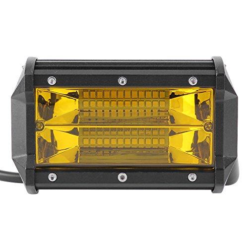 vanpower 72W 6500K 24LED Arbeitsleuchte Bar Spot Lampe 5in 6000LM 12V gelb Objektiv (Ir-booster)