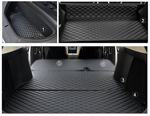 Tesla Model X 5 Seat Frunk Boot/Trunk + 2nd Row Seat Back Seat Mats.