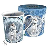 Winter Guardians White Wolf Art Mug By Anne Stokes by Anne Stokes Collection